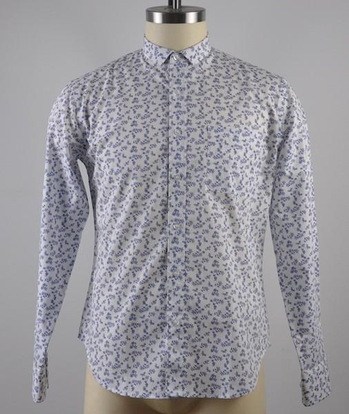 100%Cotton Men's long sleeve pigment print shirt