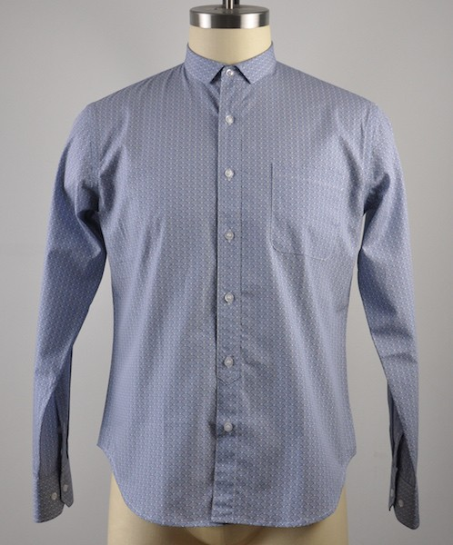 Men's cotton print long sleeve shirt